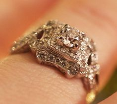 .75ct Old European Cut in Saturn Jewels Antique Style Ring