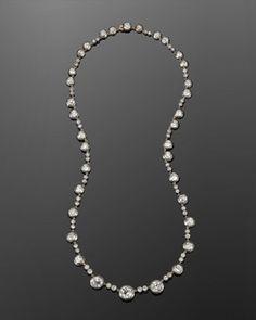 19th Century Old Mine Diamond Riviere Necklace