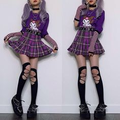 Pastel Goth Outfits, Pastel Goth Fashion, Edgy Outfits, Kawaii Fashion, Pretty Outfits, Cool Outfits, Fashion Outfits, Pastel Goth Style, Hipster Grunge