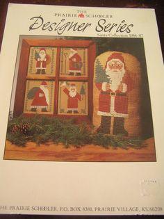 The Prairie Schooler Designer Series Santa Collection 1984-1987 Cross Stitch…