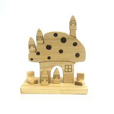 Mushroom  Gnomes Set Waldorf Toy | Armadillo Dreams via @Etsy, $25.
