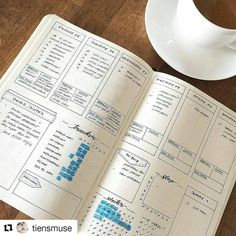 Coffee and weekly bujo for a Monday morning. . . . ..#Repost @tiensmuse with @repostapp ・・・ #bujojunkies #bujo #bulletjournal #notebook #coffee #bulletjournaljunkies #bulletjournalcommunity #notebooks #journal #weekly #leuchtturm1917 #planner #stationeryaddict #coffeetime #mondaymorning #monday #planning #planneraddict #plannercommunity #weeklyplanner #coffee #nerdalert #weeklyspread #bjcmondaymorning