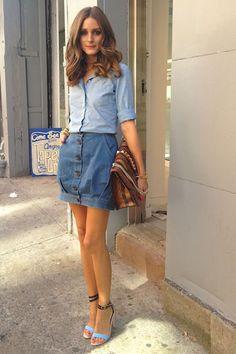 Olivia Palermo falda vaquera