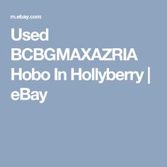 Used BCBGMAXAZRIA Hobo In Hollyberry   | eBay