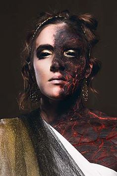 """""""The Embodiment of Wrath"""" Makeup done by Joselle Mortorff. Photography done by Paul Barker, paulbphoto.com   Used homemade gelatin prosthetic, made from honey+glycerine+water+gelatin"""