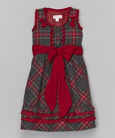 Love this Black & Red Plaid Ruffle Dress - Infant, Toddler & Girls by Trish Scully Child on #zulily! #zulilyfinds