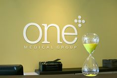 A more intimate view of the front desk at #OneMedical Group's new Flatiron office in New York.