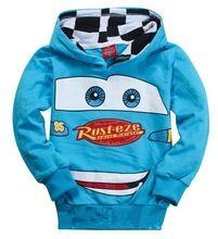 Nueva enredadera de los niños encapuchados chaqueta de sudadera delgada chicos chicas coches Pixar Cars para niños de manga larga ocasional Outwear la ropa del bebé(China (Mainland))