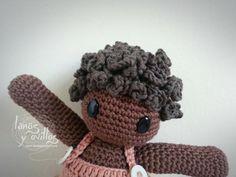 Crochet tutorial capelli ricci per bambola amigurumi Tutotrial Cabello Rizado Muñeco Amigurumi Paso a Paso en Español