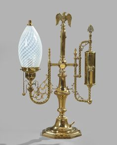 Lot:880: American Kerosene Student Lamp, Lot Number:880, Starting Bid:$250, Auctioneer:New Orleans Auction, St. Charles Gallery, Inc., Auction:880: American Kerosene Student Lamp, Date:07:00 AM PT - Nov 21st, 2010