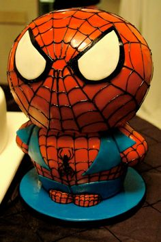 Spider-Man Cake by Whippt Desserts & Catering Man Cake, Craft Wedding, Grooms, Macarons, Special Events, Catering, Sculpting, Spiderman, Wedding Cakes