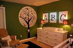 LOVE this color! And the ABC on the wall. Love to put this color as an accent wall.