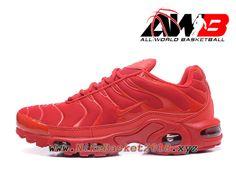 Chaussures de Nike BasketBall Pas Cher Pour Homme Nike Air Max Plus Nike TN  Requin Prix 2017 Rouge 423d0a6f0b24
