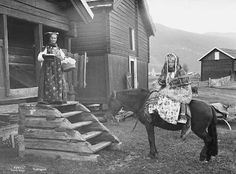 A bride from the southern region of Norway, ca. 1900
