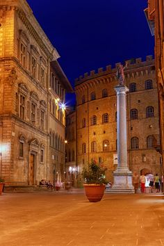 Florence at night, Tuscany, Italy