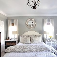 Gray And White Bedroom Design Ideas, Pictures, Remodel, and Decor
