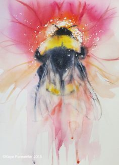 Bee Beautiful_ws by artist Kaye Parmenter Painting Inspiration, Art Inspo, Bee Art, Bees Knees, Watercolor Paintings, Watercolours, Art Drawings, Cool Art, Art Photography