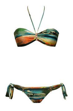 Tayo Bandeau - Ties Bottom by Salinas Swimwear