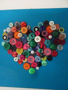 platte knoopjes in hartvorm