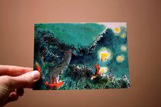 Lampions  Carte postale par ahurie