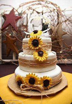 navy blue burlap sunflower wedding - Google Search