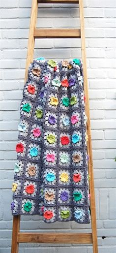 bobble flower granny square