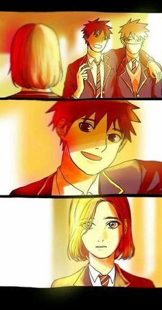 Rin and Obito Naruto Kakashi, Anime Naruto, Tenten Y Neji, Gaara, Naruto High School, Konoha High School, Akatsuki, Team Minato, Tobi Obito