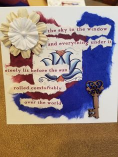 Poetry Art Card 5 by ArtsEclectica on Etsy