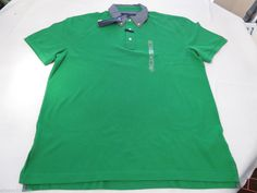 Men's Tommy Hilfiger Polo shirt logo XL xlarge Custom Ft 7854485 Envy 311 green  #TommyHilfiger #polo
