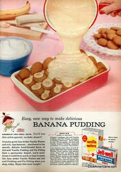 1956 Banana Pudding - just about as easy as it gets!