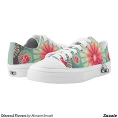 0eaee0e1fb Ethereal Flowers Printed Shoes Printed Shoes