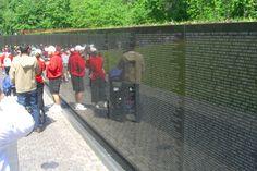 The Vietnam Memorial in Washinton DC