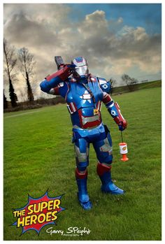 Iron patriot raising money for charity