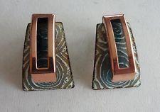 Attractive Matisse Copper and Enamel Earrings
