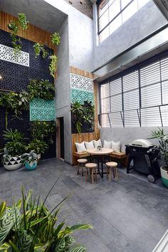 The Block Glasshouse: Terrace week! Balcony Tiles, Terrace Tiles, Terrace Floor, Outdoor Tiles, Outdoor Areas, Outdoor Rooms, Outdoor Living, Outdoor Decor, Exterior Tiles