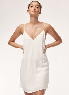 This version of Wilfred Free's signature minimal camisole dress is cut from a fluid fabric that drapes beautifully. Chic Winter Outfits, Chic Outfits, Dress Outfits, Silk Jumpsuit, Silk Dress, Slip Wedding Dress, Latest Dress, Boho, Ladies Dress Design
