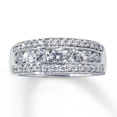 14K White Gold 1 Carat t.w. Diamond Ring, this will be my second wedding band!!