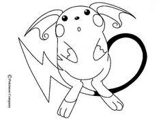 Raichu Pokemon coloring page. More Eletric coloring pages on hellokids.com