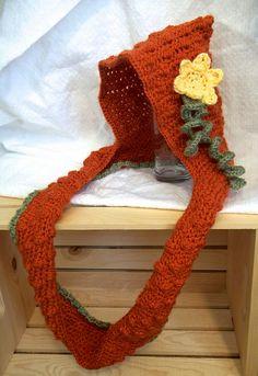 libraries, crochet cowl, patterns, child hood, pumpkin