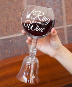 'The Ring for More Wine' Wine Glass #wine #ad #wineoclock #morewine