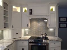 Arctic Cream Granite on Cream Cabinets - contemporary - kitchen countertops - other metro - Northern Marble & Granite Co
