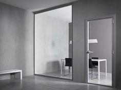 Glass #door VETRA by CONNECTICUT #interiors #glass #grey