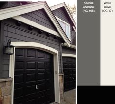 Exterior Paint Colors - You want a fresh new look for exterior of your home? Get inspired for your next exterior painting project with our color gallery. All About Best Home Exterior Paint Color Ideas Exterior Gris, Exterior Gray Paint, Exterior Color Schemes, Exterior Paint Colors For House, Paint Colors For Home, Exterior Design, Outside House Paint Colors, Paint Colours, Black Trim Exterior House