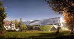 This week, the International Olympic Committee unveiled the latest renderings for its new headquarters. Located in Lausanne, Switzerland, the complex's desig...
