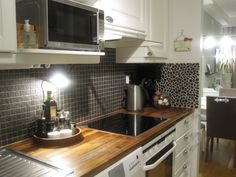 Kitchen with new light.
