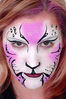 Pink and white panther