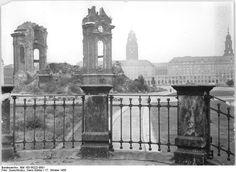 Dresden, Ruine der Frauenkirche, 1958