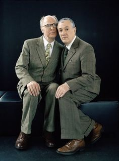 Gilbert and George are cute. But in fact they're quite rude, you know!