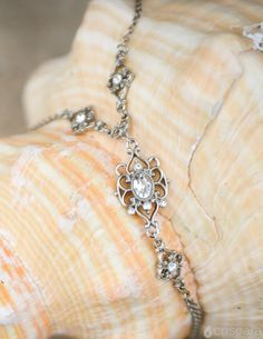 Victorian Hand Chain by Criscara - As You Wish Collection #bridal #jewelry #shopcriscara #handchain