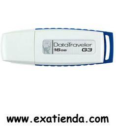 Ya disponible Memoria USB 2.0 Kingston 16gb   (por sólo 17.89 € IVA incluído):   -Capacidad: 16GB -Interface: USB 2.0 -Velocidad lectura: 10MB/s -Velocidad escritura: 5MB/s -Otros:-  -P/N:DTIG3/16GB  Garantía de 24 meses.  http://www.exabyteinformatica.com/tienda/1409-memoria-usb-2-0-kingston-16gb #memoria #exabyteinformatica